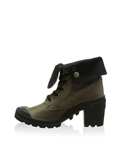 Palladium Botas de cordones Baggy Heel Leather