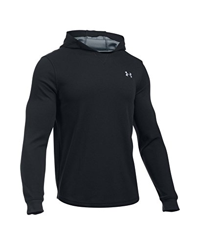 Under Armour Men's UA Waffle Hoodie Large Black