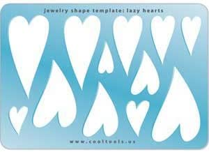 Cool Tools - Jewelry Shape Template - Lazy Hearts
