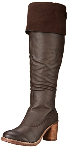 Muk Luks Women's Raine Winter Boot, Brown, 9 M US