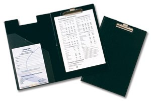 Rapesco Clipboard Executive Fold-over PVC-finish with Pocket Foolscap Black Ref CD1L00B2