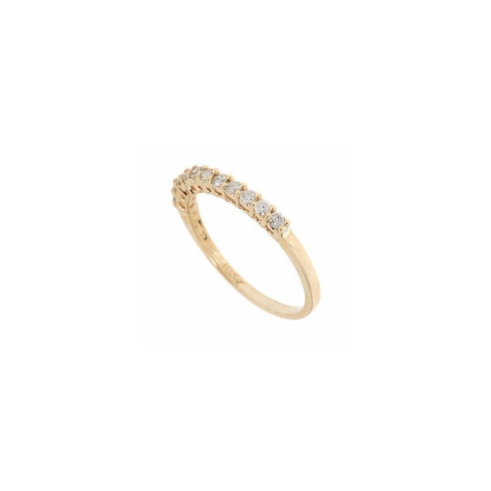 10K Yellow Gold Diamond Wedding Anniversary Band Ring size 4.5 (1/3 carat, SI Clarity)