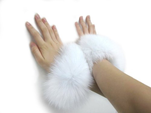 Ivory Fox Bracelets & Slap-on Cuffs Pair