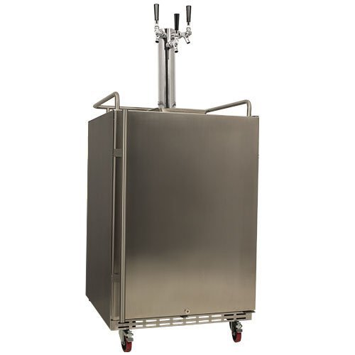 EdgeStar Full Size Triple Tap Built-In Kegerator - Black and Stainless Steel (Under The Counter Kegerator compare prices)