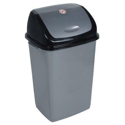 13-Gal. Trash Bin Color: Grey and Black (Black Kitchen Trash Can 13 Gallon compare prices)