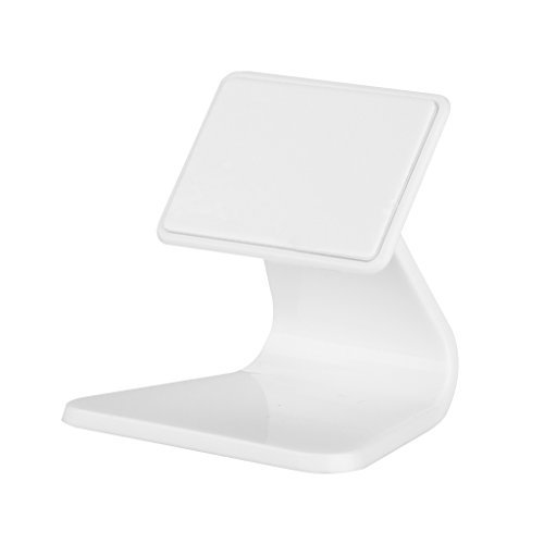 Storm Store Mini Portable Multi-angled Nanotechnology Micro-suction Desk Stand Holder Bracket Dock for iPhone iPad Samsung &Most Smartphone Cell Phone Tablet (White)