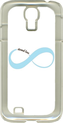 Different Color Love Infinity Symbols On Samsung Galaxy S4 Clear Hard Case (Baby Blue)