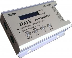 Pack Of One (1), Dmx Rgb Controller 12V-24V High Power 8A/Ch