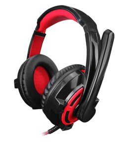 Tobestronger Dj-860 High Quality Surround Sound Effect Usb Gaming Stereo Headset Headphone With Mic(Red) Delivered In 10 Business Days