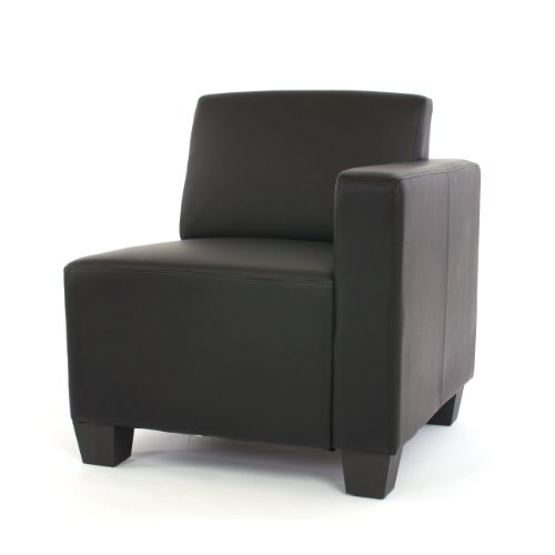 modular 2 sitzer sofa couch lyon kunstleder schwarz hempels sofa. Black Bedroom Furniture Sets. Home Design Ideas