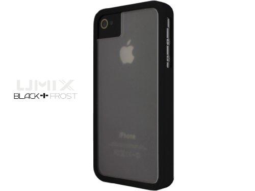 iPhone 4S / 4 Novoskins UmiX Nero Bumper e Matt Trasparente Dual Piece Hard Case (Buy Any UMIX Case and Get 1 RANDOM Colour Case Free)