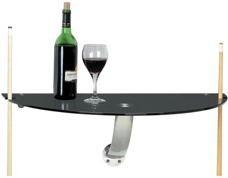 Black Tempered Glass Wall Pub Table