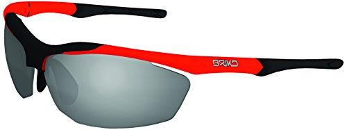 Briko E00010A018-NAG Trident Occhiale Bici e Multisport, Arancione, Taglia Unica
