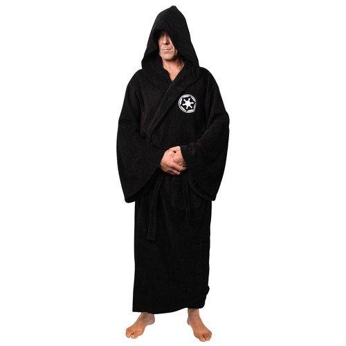 Star Wars Galactic Empire Unisex Darth Vader Sith Bathrobe Black One Size