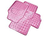 4 Piece Heavy Duty Pink Checker Mat Set Nissan Note