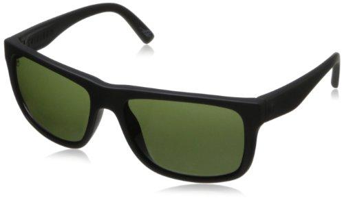 Electric Swing Arm Wayfarer Sunglasses, Matte Black / M.Grey
