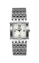 Tissot Womens Diamond Six-T Stainless Steel Watch T02158174