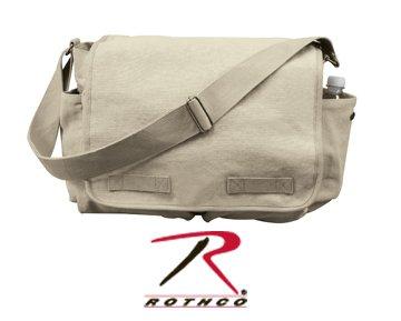 Khaki Vintage Classic Messenger Bag - Jack Bag (24) (Messenger Bag Jack Bauer compare prices)