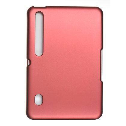 Red Rubberized Slim Back Open Face Cover Protector Case for MOTOROLA XOOM Android Tablet