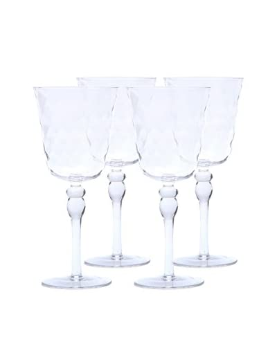 Padma Collection Optic 10.5-Oz. Stem Wine Glasses, Clear, Set of 4