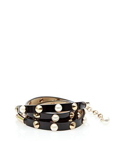 Cortefiel Cinturón Perlas Negro