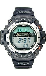 Casio Sports Gear Twin Sensor Altimeter/Barometer Thermometer Grey Dial Men's watch #SGW300H-1AV