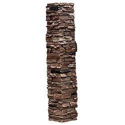 Stoneworks faux stone railing post covers rose amazon com