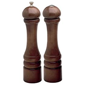 Chef Specialties 10100 10 Inch - 26cm ImperialWalnut Pepper Mill Salt Shaker Set by Chef+Specialties