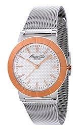 buy Kenneth Cole New York Women'S Kc4907 Classic White Dial Rose Gold Bezel Mesh Bracelet Watch