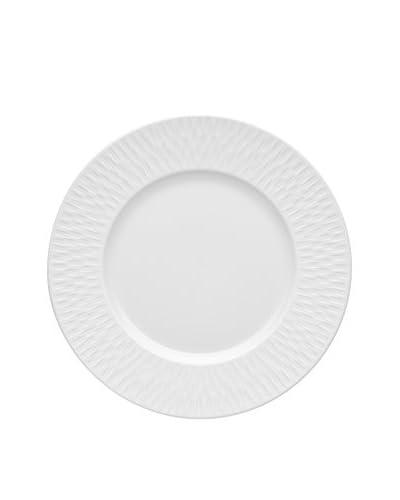 Guy DeGrenne 8.9 Round Satin White Boreal Dessert Plate, White