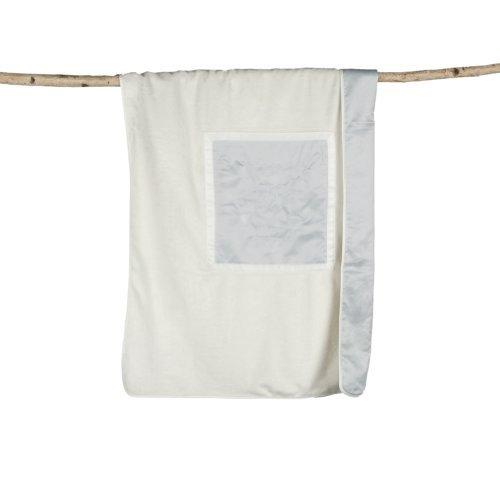 Barefoot Dreams - Signature Plush Receiving Blanket - Blue-Cream