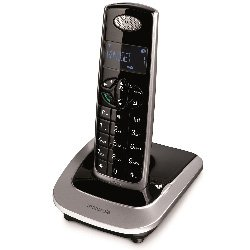 Motorola D501l Cordless Phone (Black-Silver)