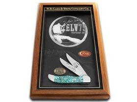 CASE XX Elvis Presley 75th Birthday Shadow Box Genuine Abalone Hunter 1/100 Pocket Knife Knives