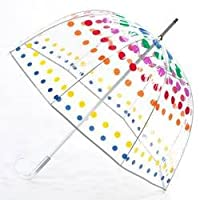 Totes Women's Clear Bubble Umbrella-Blocks-One Size from Totes