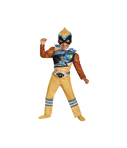 Power Rangers Dino Charge Gold Ranger Little Boys Muscle Costume