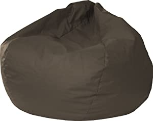 Gold Medal 30014046821 XX-Large Leather Look Bean Bag, Walnut from Hudson Beanbags