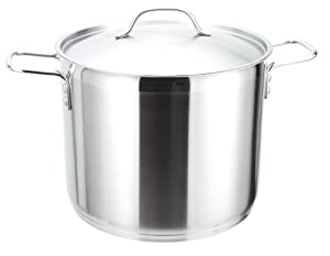 Strauss Pro Stainless Steel 38 Quart Stockpot with Lid