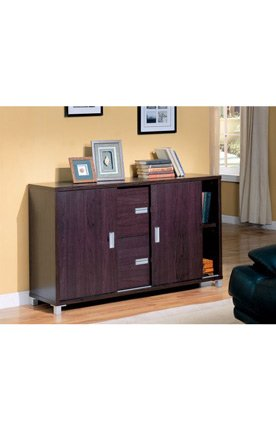 Glass Office Credenza By Coaster Furniture back-936498