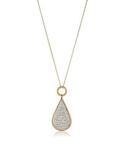 Chloe by Liv Oliver 18K Gold-Plated Pear Drop Crystal Necklace