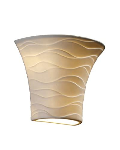 Justice Design Group Small Round Flared Wall Sconce, Waves