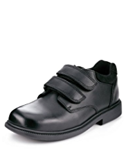 Leather Lined Formal Riptape Fastening Shoes