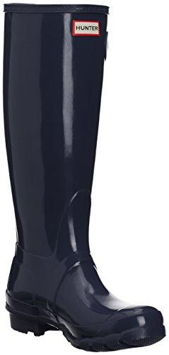 Hunter Original Gloss, Botas de lluvia Mujer, Azul (Navy), 38 EU