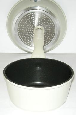 Saucepan 18cm dia 20cm Handle 8cm deep Crabon steel Nonstick Scratch Proof Guaranteed quality