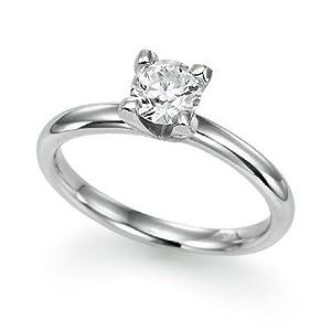 1 ct. Autour du Solitaire de Diamant Bague de Fiançailles en Platine - La Taille 52