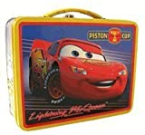 Disney Cars Light Mcqueen Tin Box - Lunch Box -Yellow Trim