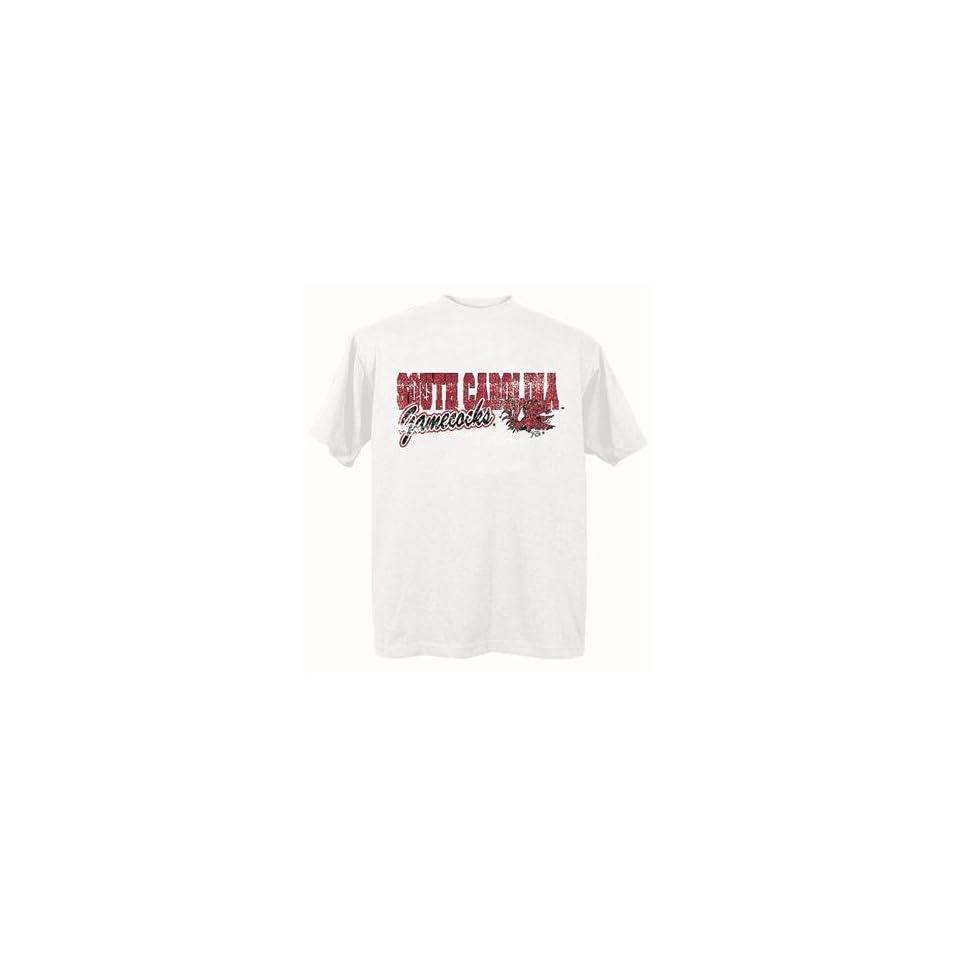 South Carolina Gamecocks USC NCAA White Short Sleeve T Shirt Large