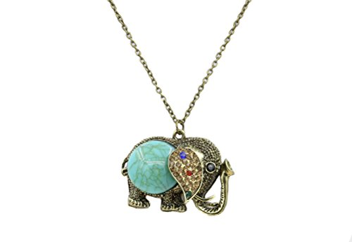 Cute Necklaces Vintage Elephant Long Necklace Sweater Chain Necklace Animal Necklace