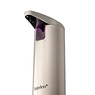 The Original HAYDEN Premium Automatic Touchless Soap Dispenser - Perfect for Bathroom or Kitchen - Fingerprint Resistant Brushed Stainless Steel - Hand Sanitiser compatible - (NEW Waterproof Base!)