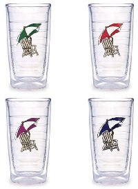 Tervis Tumbler Assorted Adirondack Chairs 16-Ounce Double Wall Insulated Tumbler, Set of 4