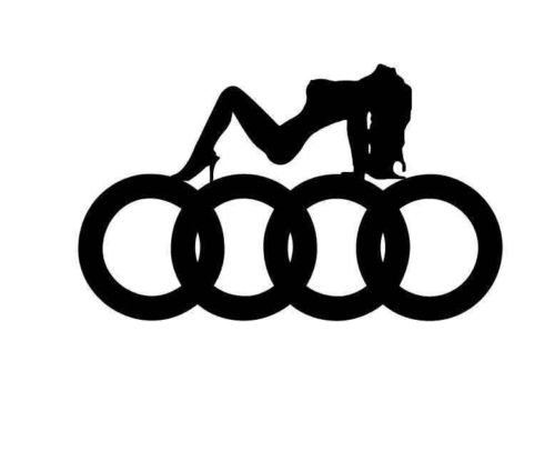 2x Audi Sexy Logo (Farbwahl) ca13 Decal Tuning Aufkleber Sticker Auto Motorrad Pick Up